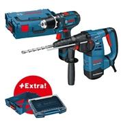 Immagine di Professional Set: martello perforatore GBH 3-28 in valigetta L-BOXX + trapano-avvitatore a batteria GSR 10,8-2-LI in valigetta i-BOXX + i-Rack